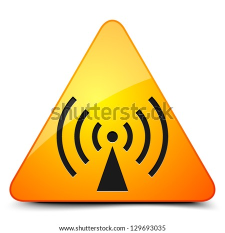 Wireless alert sign - stock vector