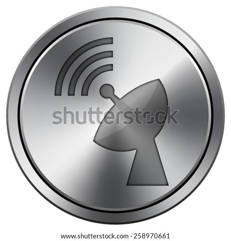 Wireless antenna icon. Internet button on white background. EPS10 Vector.  - stock vector