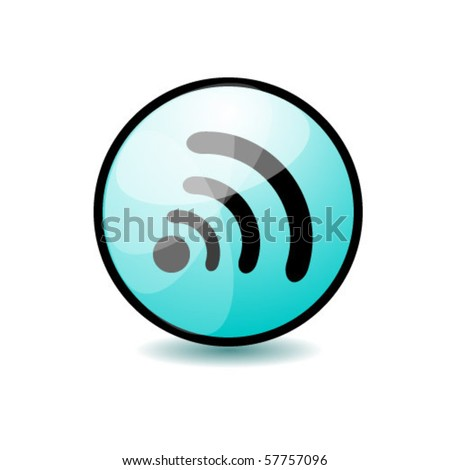 wireless button - stock vector