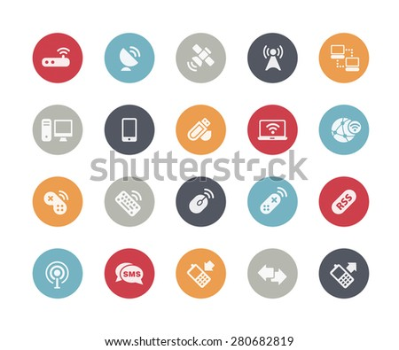 Wireless Communications Icons // Classics Series - stock vector