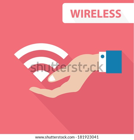 Wireless concept,vector - stock vector