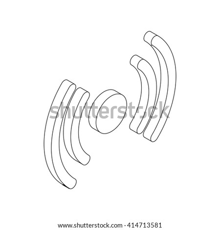 Wireless connection icon, isometric 3d style - stock vector