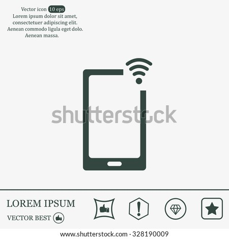 Wireless connectivity concept. Setting wifi connection. - stock vector