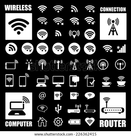 Wireless icon. Basic icons.