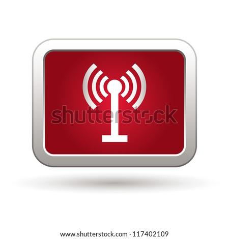 Wireless icon. Vector illustration - stock vector