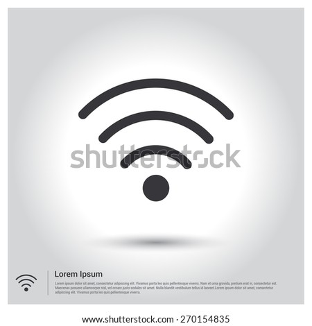 Wireless Icon, Vector illustration for web, site, mobile application. Simple flat metro design style. Outline Icon. Flat design style - stock vector