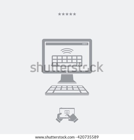 Wireless keyboard flat icon - stock vector