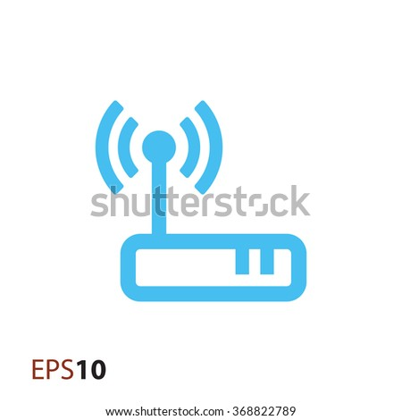 Wireless modem icon for web - stock vector