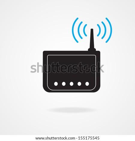 wireless  modem ,Illustration eps 10 - stock vector