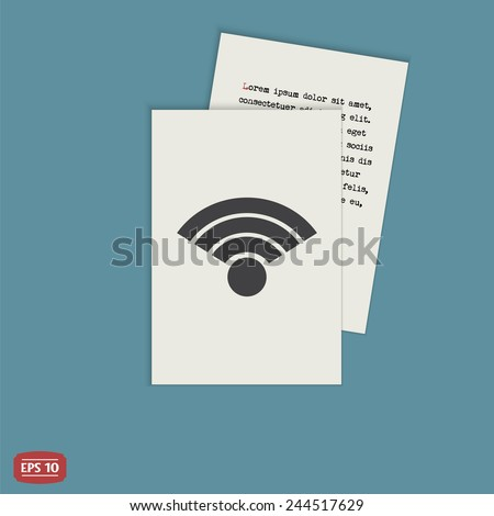 Wireless Network Icon. Flat design style. Made vector illustration - stock vector