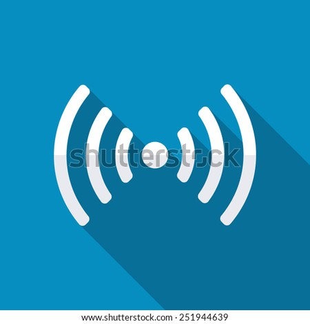 Wireless Network icon. Signal - stock vector