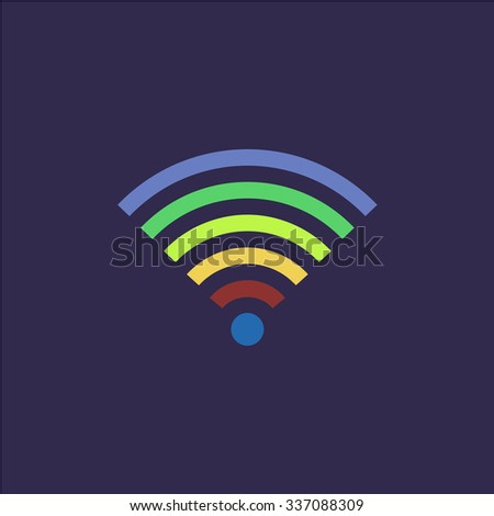 Wireless Network. Icon Vector. Icon Picture. Icon Graphic. Icon Art. Icon JPG. Icon JPEG. Icon EPS. Icon AI. Icon FLAT. Icon SIMPLE - stock vector