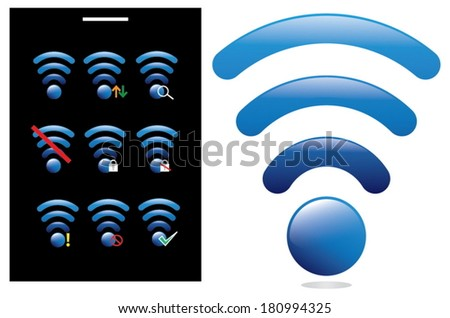 Wireless Network symbol icon handphone communication gsm celular~~ - stock vector