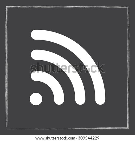 Wireless sign icon, vector illustration. Flat design style  - stock vector