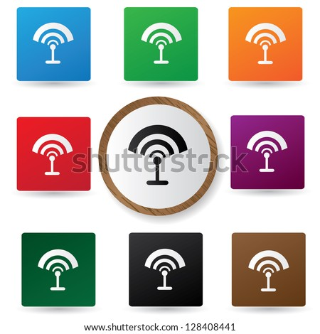 Wireless sign,vector - stock vector