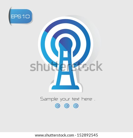 Wireless symbol,vector - stock vector