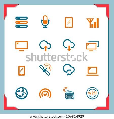 Wireless technology - stock vector