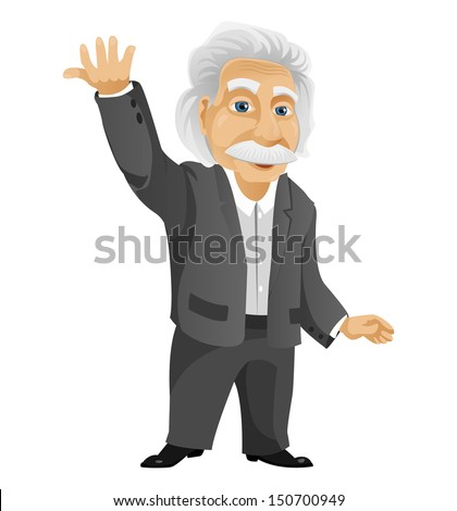 Wise Old Man - stock vector