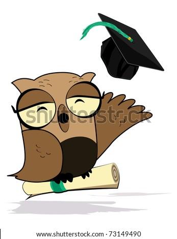 Wise Owl - stock vector