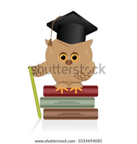 Fantastic Graduation Cap Black Adorable Dog - stock-vector-wise-owl-sits-on-a-book-of-knowledge-a-stack-of-multi-colored-closed-books-bird-with-graduate-hat-1034694085  Best Photo Reference_671084  .jpg