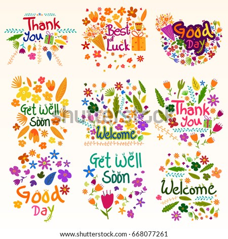 Wishing greetings thank you best luck stock vector 668077261 wishing and greetings for thank you best of luck good day welcome m4hsunfo Images