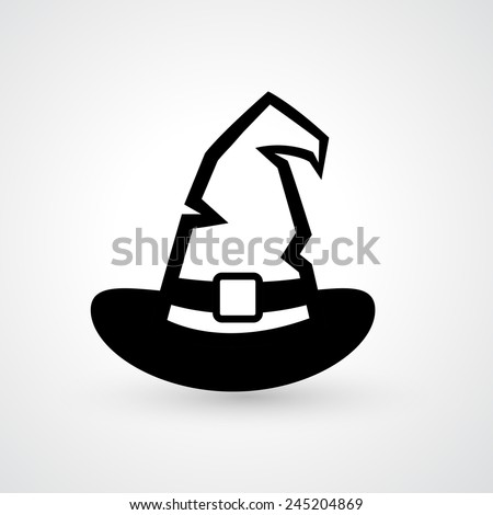 Witch hat icon vector - stock vector