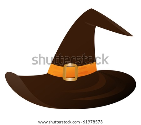 Witch's hat (vector version) - stock vector