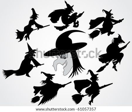 Witch's silhouette