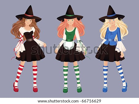 Witches - stock vector