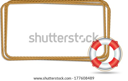 with Life Ring - stock vector
