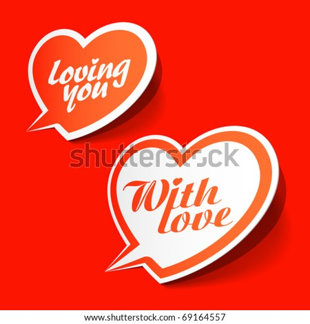 With love - enamored bubbles. Vector. - stock vector