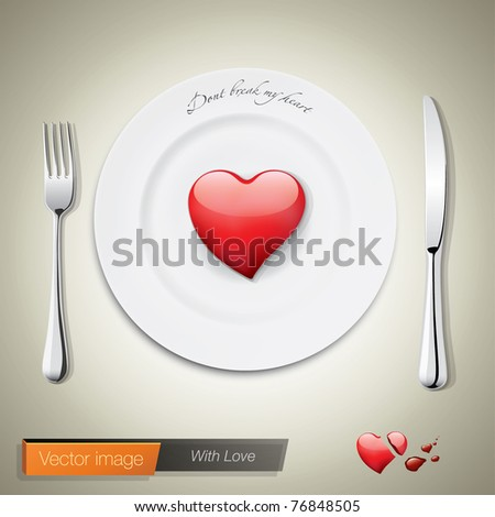 With love. Vector image