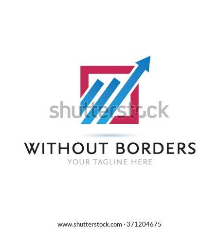 Without Borders Logo Icon Elements Template - stock vector