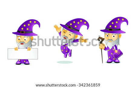 WIZARD 1 - stock vector