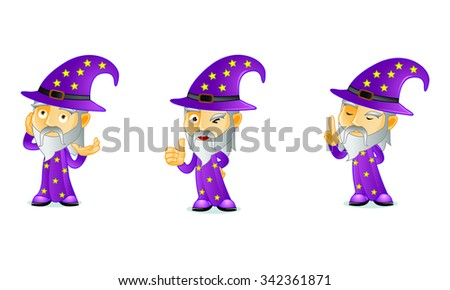 WIZARD 2 - stock vector