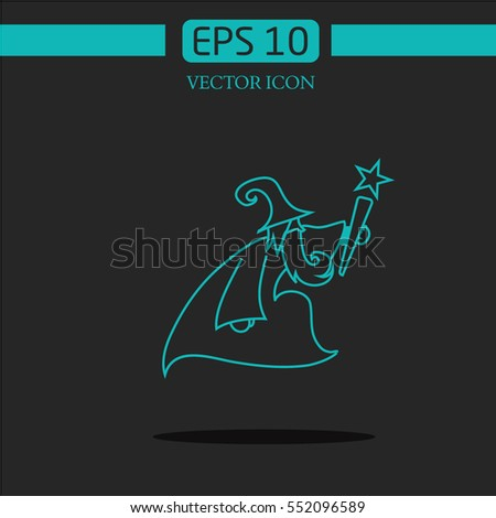 White beard sorcerer stock images royalty free images for Logo creation wizard