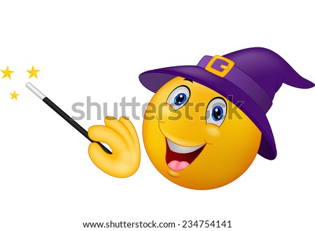 Wizard with magic wand - stock vector