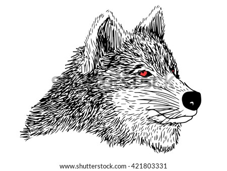 Evil Wolf Face Stock Images similar t...
