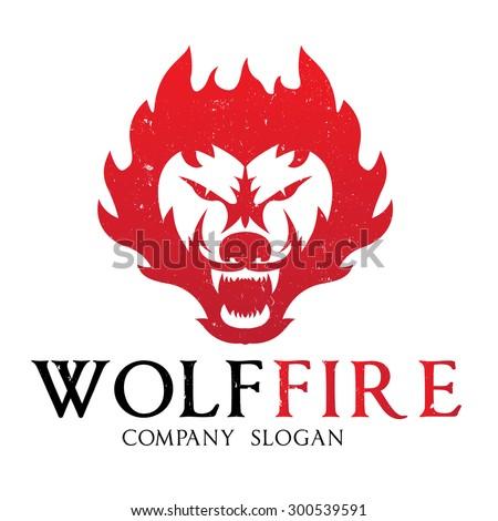 Wolf fire,wolf logo,fox logo,fox,Vector logo template - stock vector