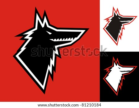 Wolf head symbol illustration - stock vector