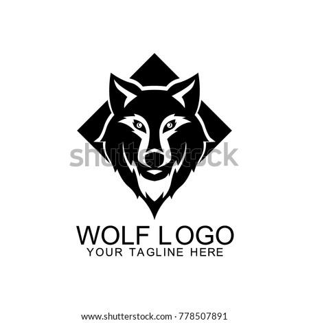 wolf logo design vector stock vector 778507891 shutterstock