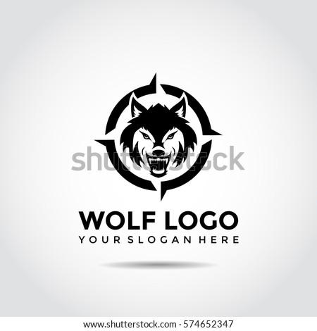 Wolf Logo Template Vector Illustrator Eps10 Stock Vector 574652347 ...
