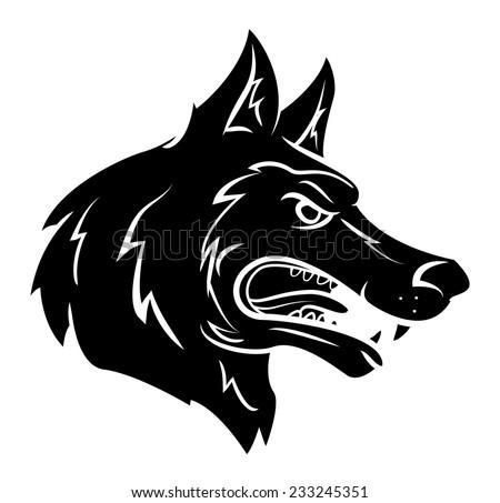 Wolf Mascot - stock vector