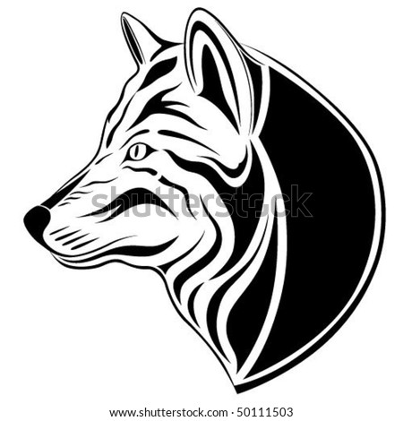 Wolf, tattoo - stock vector