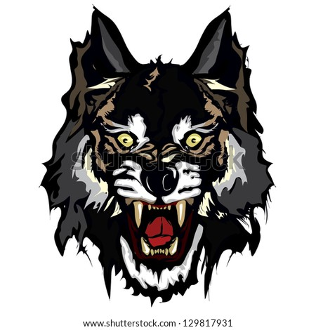 Wolf vector - stock vector