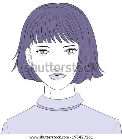 woman - stock vector