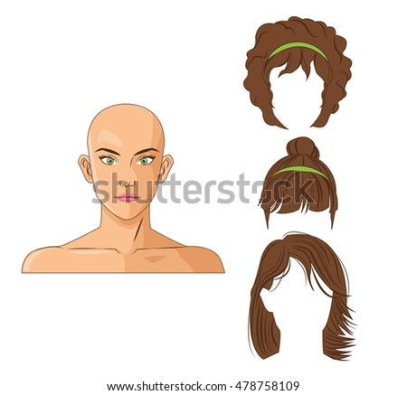 woman and hair style design