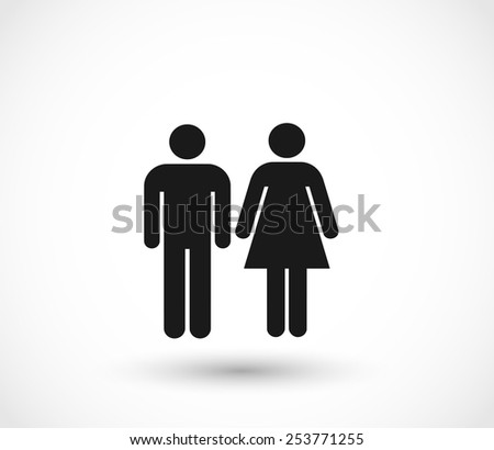Woman and man icons vector - stock vector