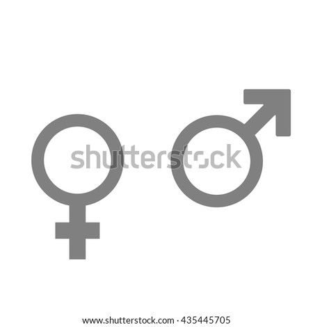 Woman and man sign