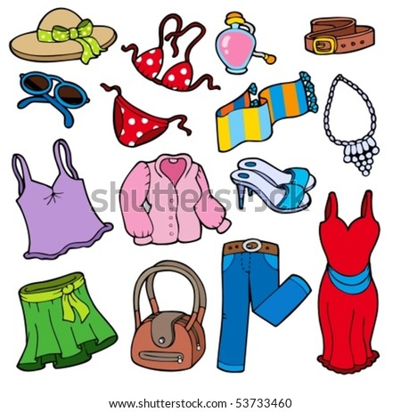 Woman apparel collection - vector illustration. - stock vector